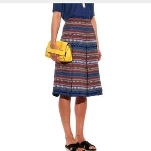 Weekend by Max Mara jacquard pleated flare skirt
